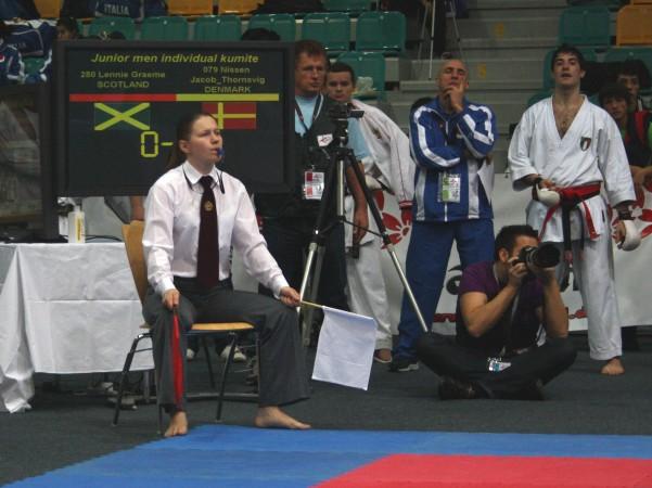 Giedrė Gudzinevičiūtė tik pasibaigus čempionatui sužinojo, kad išlaikė kata ir kumite ESKA teisėjo licenciją